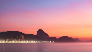 Sunrise @Copacabana Beach, Rio de Janeiro, Brazil