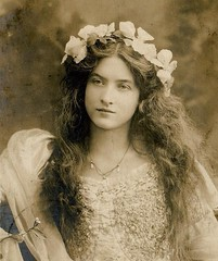 Edwardian Beauty (kevin63) Tags: lightner clementine facebook photos vintage old antique women 1900s sepia blackandwhite beauty pretty exotic