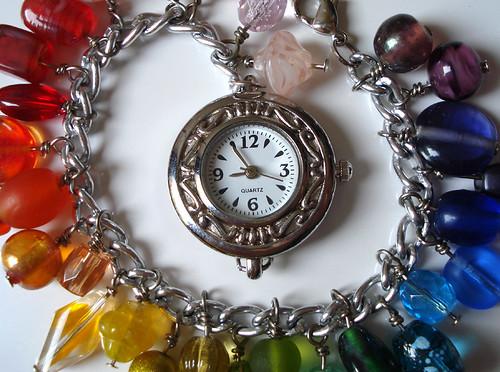Rainbow Charm Bracelet Watch