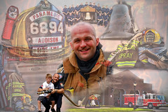 Spray collage (Firefighter with a camera) Tags: collage fire texas helmet hose fireman fireengine firestation addison firefighter