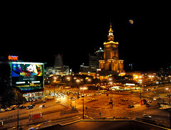 ~ Warsaw At Night - ISO 12,800 !!! ~ (Peem (pattpoom)) Tags: light night nikon poland polska warsaw warszawa highiso iso12800 d700  nikkorafs1424mmf28ged