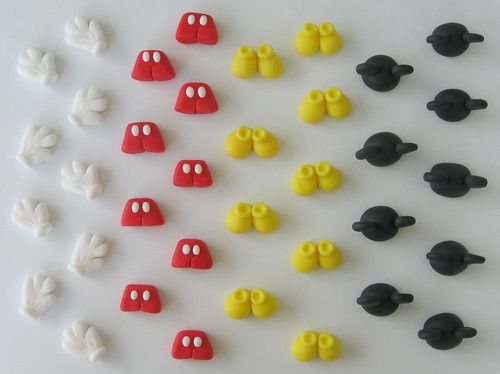 Mickey Mouse Fondant Toppers for Cupcakes