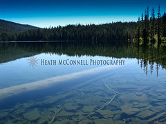 Secret Lake 1 (HeathMcConnell) Tags: lake forest landscape outdoors photography scenery backpacking watermarked 1x15