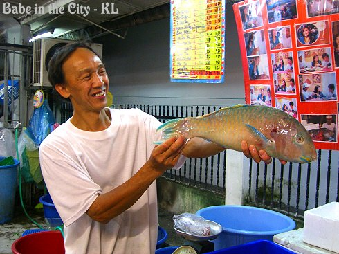 Mr Moon with parrot fish