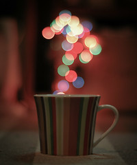 cup-o-keh (nazirulmubin) Tags: christmas light colour cup night carpet interestingness interesting rainbow nikon russia bokeh moscow stripes d70s stripe bored explore round late colourful nikkor 50mm18 explored aliffaliq