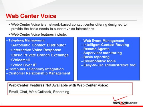 VERIZON Web Center Voice Presentation Final 6 17 09