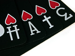 hate and love (sightadjustment) Tags: love hearts cards olympus deck hate e3 playingcards carddeck ellusionist blackghost