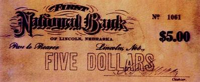 1907 Clearinghouse Scrip Lincoln NE