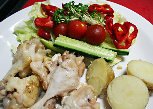 Chicken with Bright Salad