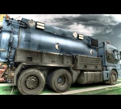 Septic Truck Scania (Johan Runegrund) Tags: truck empty hdr orton scania digest septic tjrn orust orusttjrn