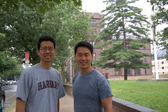 Mike and James at Yale