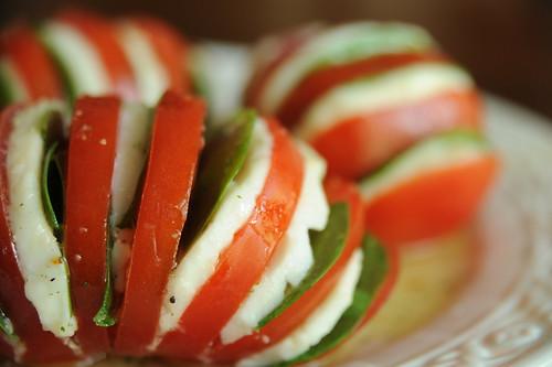 Tomato Mozzarella Fans