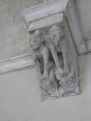 The Saint-Guilhem Cloister:  Corbel (peterjr1961) Tags: nyc newyorkcity newyork art museum french medieval themet metropolitanmuseumofart thecloisters