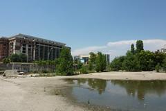 """Colţul nord-vestic al şantierului Centrului de Creaţie şi Cultură """"Cântarea României"""""""