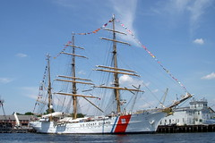 USCG Tall Ship (*Michelle*(meechelle)) Tags: boston 1936 eagle explore frontpage tallships bostonharbor uscoastguard charlestownnavyyard threemastedsailingbarque homersiliad sailboston2009 trainingvesselforcgacademycadets coastguardcuttereagle length295feet