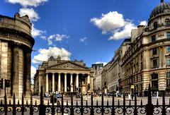By The Bank of England (ProPhoto.com.cy) Tags: city blue sky london photoshop nikon dino bank handheld noiseninja railings hdr d3 bankofengland cs3 photomatix nikonlens tonemapping detailsenhancer nikond3 topazsharpener
