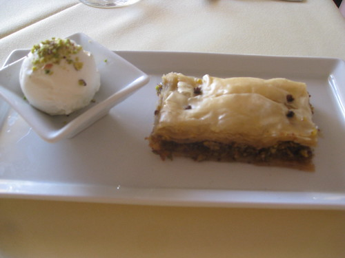 Selene - Santorini - Dessert - Baklava with Niotiko Cheese Ice Cream
