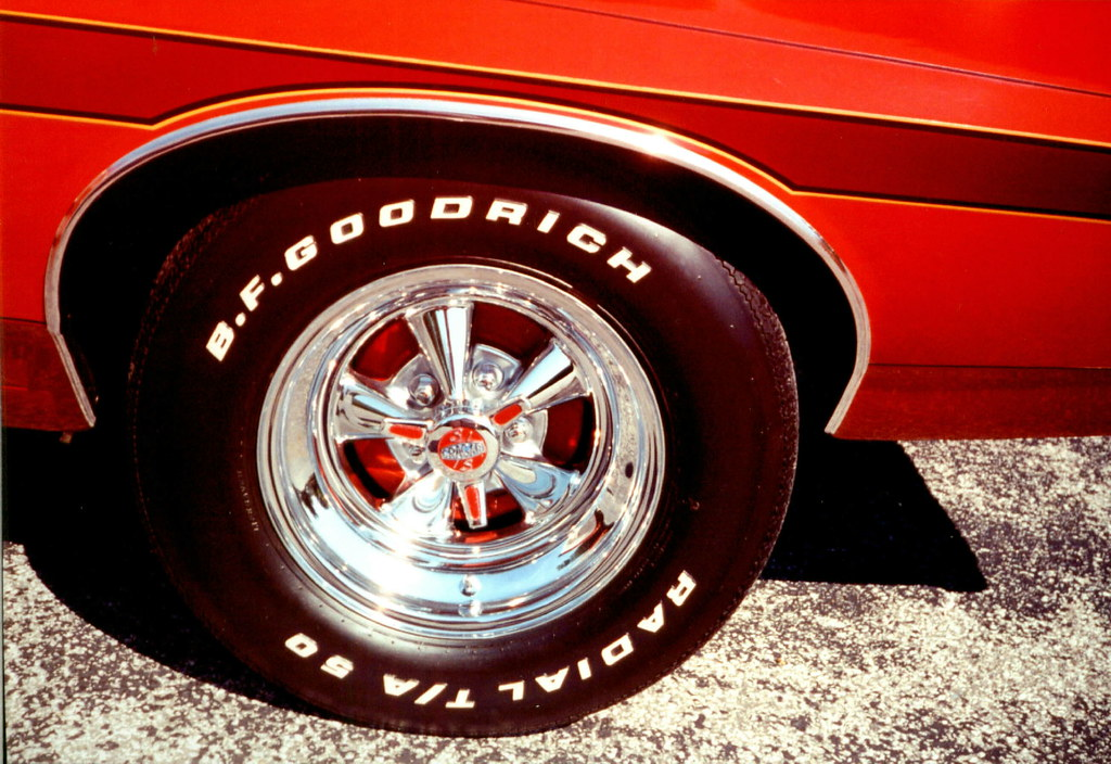 1972 Gran Torino,rear Cragar S/S wheels,B.F.Goodrich Radial T/A tires