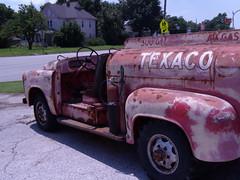Just before  Iola, Kansas '  Texaco Truck