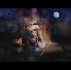 Fire Dance for Mother Earth (h.koppdelaney) Tags: life bon friends art digital photoshop fire dance high energy peace power heart symbol peaceful philosophy inner vision m
