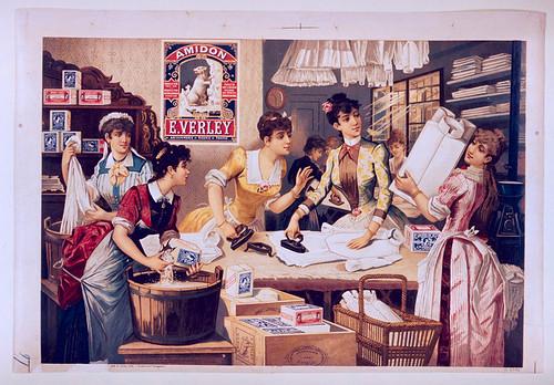 012- Affiche puclicitario del almidon E. Verley-siglo XIX