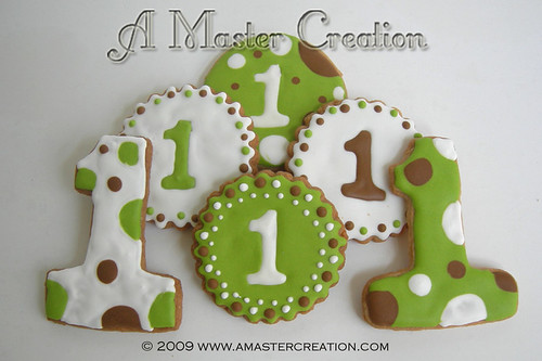 Lime green #1 cookies set