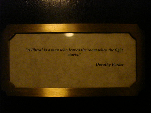 Dorothy Parker quote on our room at the Algonquin
