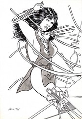 Trapped (Lilly Blum) (Wasfi Akab) Tags: china fiction blackandwhite bw italy white black hot flower cute sexy art girl ink comics book fight europe comic italia desert iraq science strip painter angry scifi exile struggle hotty starship apocalyptic violent apocalyps akab wasfi