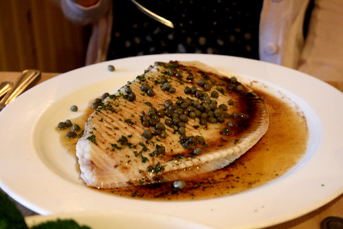 Skate with caper butter
