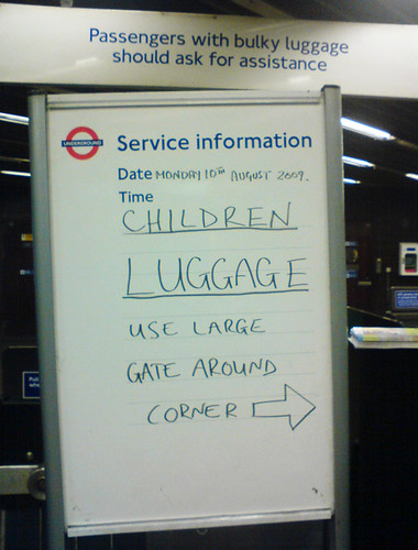 Children & Luggage use large gate taken by Tom W