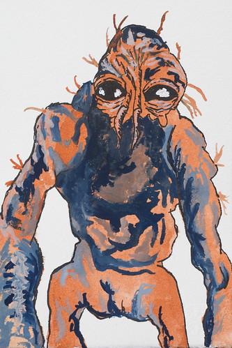 Brundlefly (garethmooney) Tags: film monster ink painting drawing watercolour mutant mutation jeffgoldblum davidcronenberg