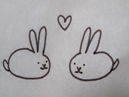 bunnies in love. Bunny Love., originally