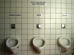Please help us to separate... Spirits / Beer / Wine (fotomanni.de) Tags: toilette biergarten mittelfranken mlltrennung sorryforthat wasteseparation pflugsmhle toiletofabeergarden leichtbertriebenoder