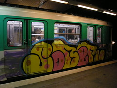 graffiti on the subway wagon (ÇaD) Tags: paris subway wagon graffiti metro chad cagdas ozturk deger cagdasdeger