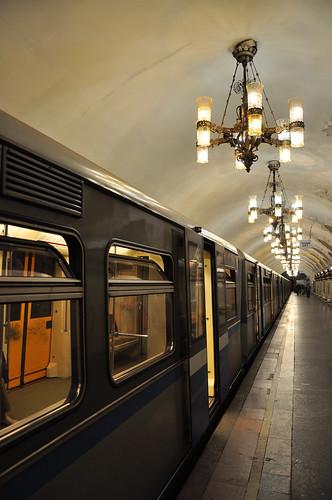 MoscowSubwayRetroTrain