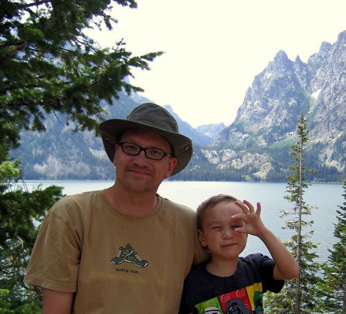 Toby & Me at Jenny Lake in the Tetons