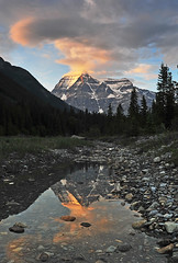 Mount Robson (Surreal McCoy (Alvin Brown)) Tags: sunset mountain canada rockies jasper bc banff robson reflectio rockymoutnains