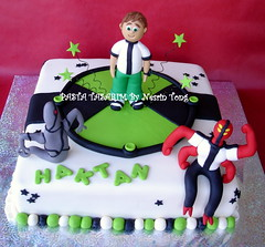 BEN 10 CAKES - HAKTAN (PASTA TASARIM) Tags: birthday cake kids ben 10 cartoon network ben10 omnitrix