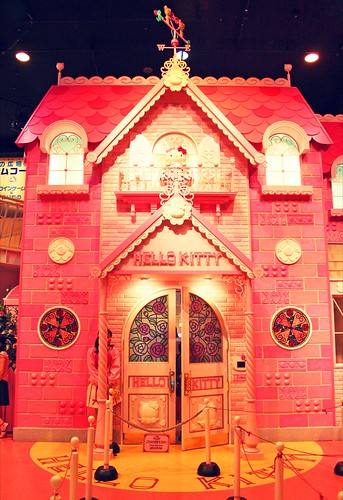 Hello Kitty's house is a one of a kind treat, everything in the home is cute