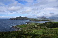 View from Valentia Island (Janek Kloss) Tags: county travel ireland sea sky cloud lighthouse mountain building tower water rock wall architecture point outdoors island coast moss europe day exterior place guidance famous rocky wave nobody landmark scene tourist irland eire kerry structure safety direction shore coastline local build range protection seashore beacon scenics attraction cromwell irlanda countykerry mountainrange ierland destinations valentiaisland valentia  traveldestinations famousplace irlandia locallandmark nonurban buildingexterior nonurbanscene    buildingstructure lirlande    cromwellpointlighthouse lighthousesstructures