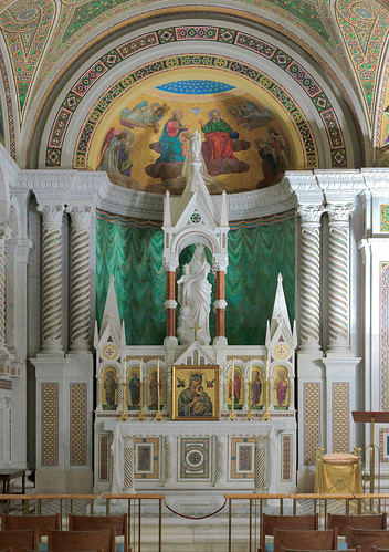 Cathedral Basilica of Saint Louis, in Saint Louis, Missouri, USA - Our Lady's Chapel - altar