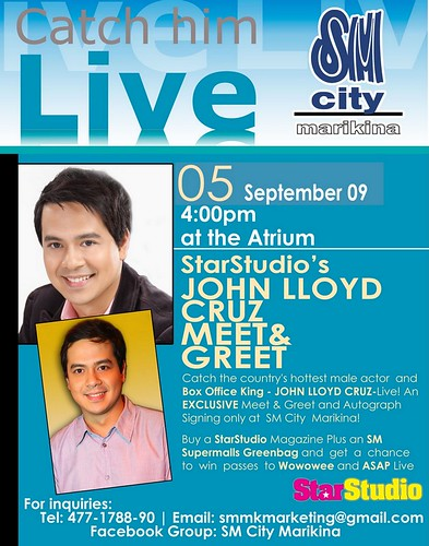 John Lloyd Cruz in SM Marikina