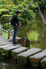 stepping stones (K. Yasuhara) Tags: goldengatepark pond steppingstones japaneseteagarden canoneosef50mmf18ii