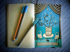 blue room (work in progress) (Asja.) Tags: wip sketchbook 365 blueroom
