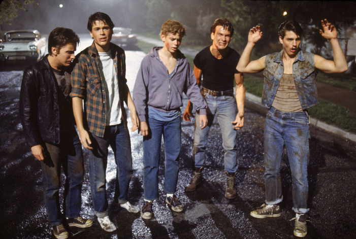 Emilio Estevez, Rob Lowe, C. Thomas Howell, Patrick Swayze and Tom Cruise.