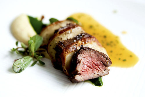 Black Angus Beef Tenderloin with Parsley Root Puree and Lobster Mushroom