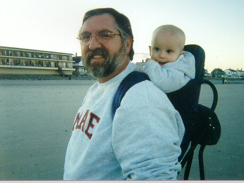 Thor and Dad in Maine, Summer 2000
