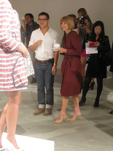 Peter Som and Anna Wintour