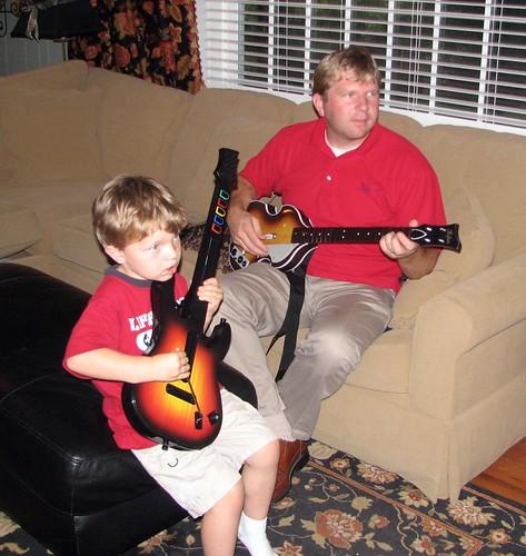 O on guitar