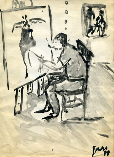 Artista en el taller